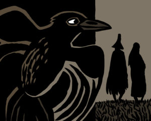 kamishibaï de Catherine Chion, illustratrice, conte amérindien
